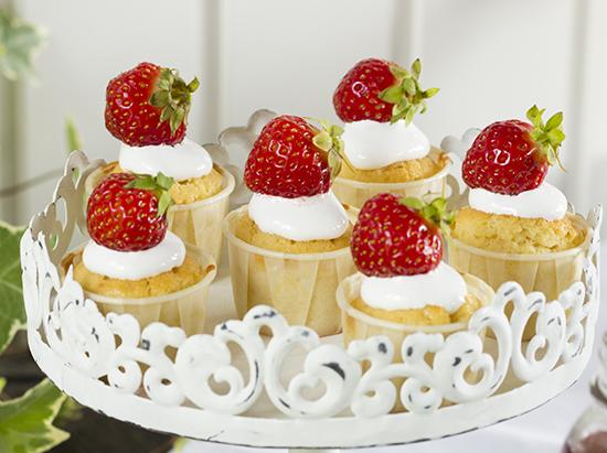 Minicupcakes strawberries