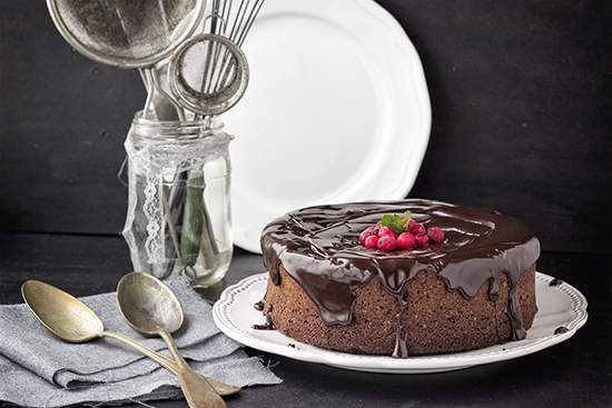 Roasted Halzenuts and Chocolate Cake
