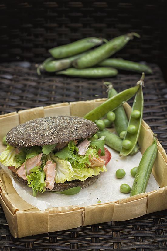 Pan de Centeno y Salmon